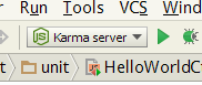 Webstorm Karma Server run